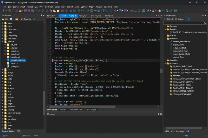 Rapid PHP 2018 IDE